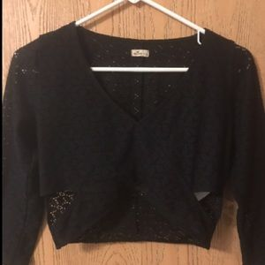 Dressy crop top from hollister. Size Large